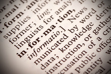"""The Word """"Information"""" In A Dictionary"""