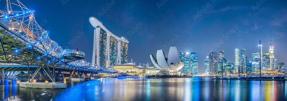 Fototapeta Singapore city at night