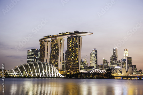 Tuinposter Singapore Landscape at Singapore