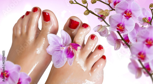 Wet feet with orchid.