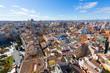 Valencia aerial skyline with Plaza de la Reina Spain