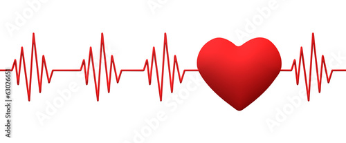 Photo  cardiogram pulse trace