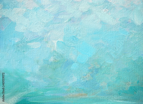 sea foam and splashes, painting by oil on canvas, illustration, Wallpaper Mural