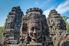 Faces Of Bayon Temple, Angkor,...