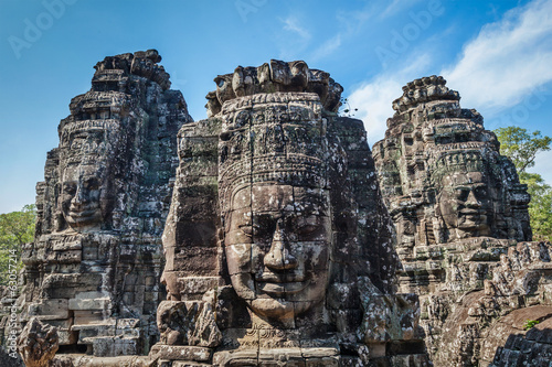 Faces of Bayon temple, Angkor, Cambodia Fototapeta
