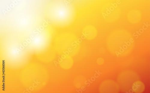 Fototapeta summer orange background with bokeh and lens flare obraz na płótnie