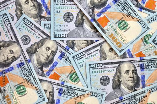Fotografie, Obraz  Redesigned American Dollars background