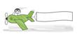 Werbeflugzeug mit Textfreiraum