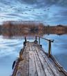 el lago justo antes de amanecer