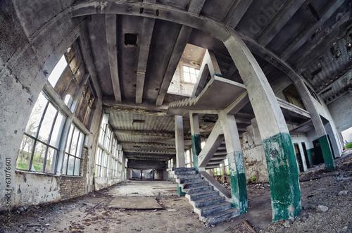 Papiers peints Les vieux bâtiments abandonnés Spooky abandoned factory