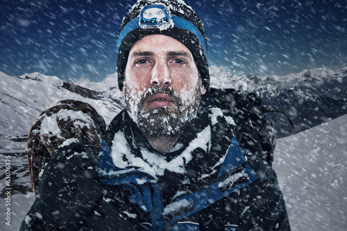 Photo Stands Mountaineering Adventure mountain man
