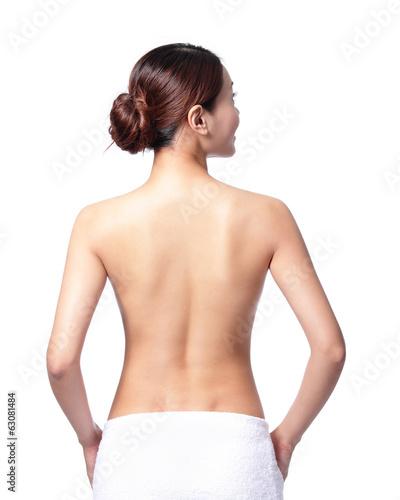 Fotografie, Obraz beautiful woman back view