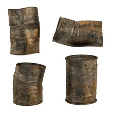 Realistic 3d Render Of Rusty Cans