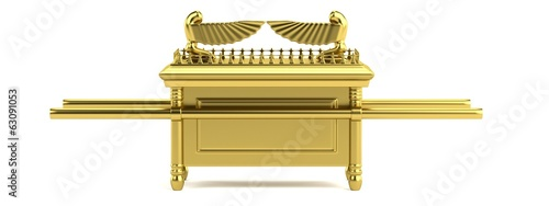 Canvastavla realistic 3d render of ark of the covenant