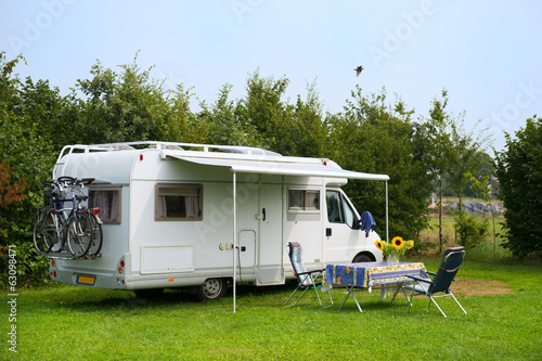 Foto op Canvas Kamperen Mobil home camping