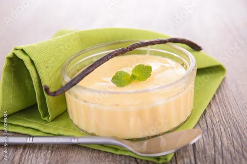 Fotografía vanilla cream dessert