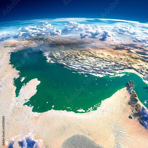 Photo  Fragments of the planet Earth. Persian Gulf