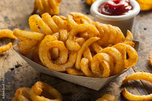 Photo  Spicy Seasoned Curly Fries