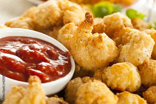 Canvas Prints Seafoods Organic Breaded Popcorn Shrimp
