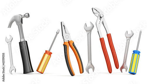 Fotomural Home improvements tools isolated