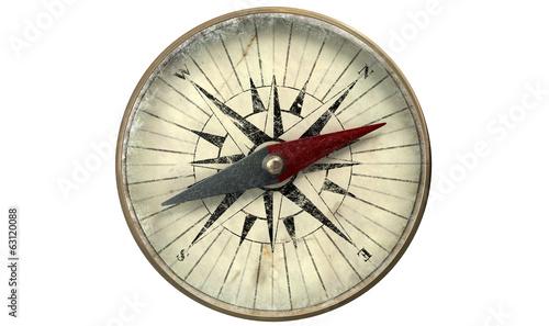 Türaufkleber Schiff Antique Compass