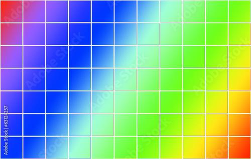 Fototapeta kratka  siatka-z-kwadratow-z-kolorami-teczy