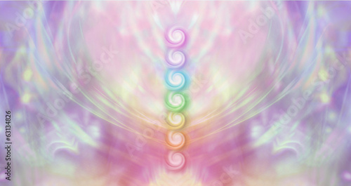 Seven Chakra Vortex Website Banner Canvas Print