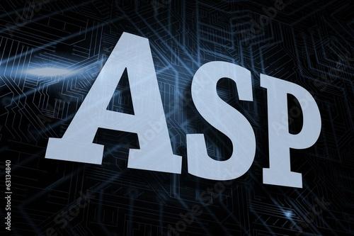 Asp against futuristic black and blue background Wallpaper Mural