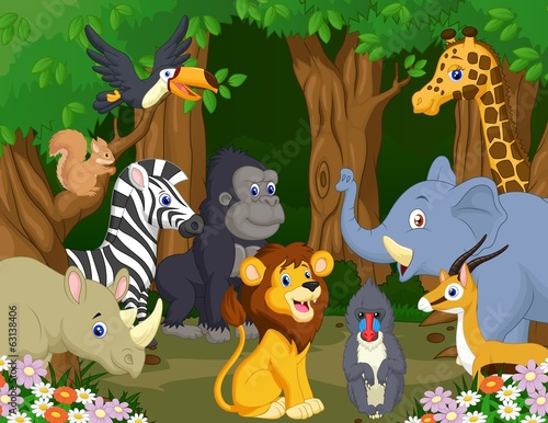 Wild Animal cartoon #63138406