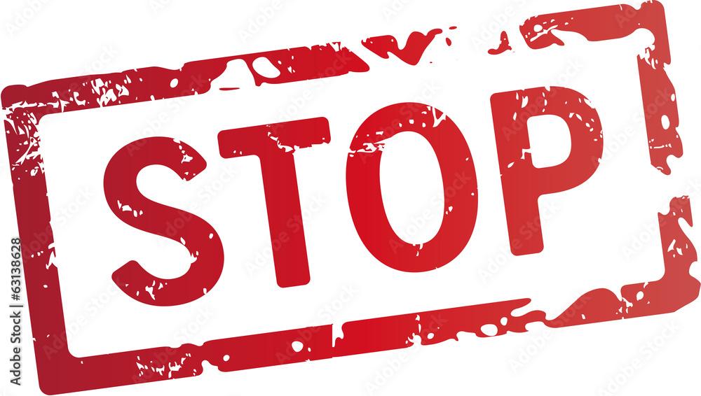 Fototapety, obrazy: Stop stempel