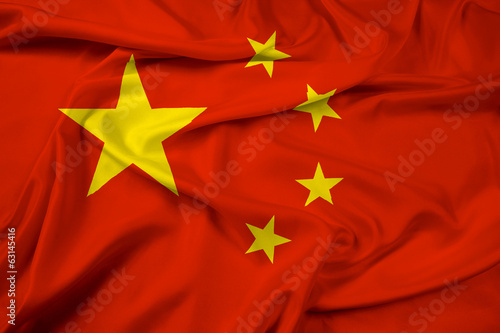 Foto op Canvas China Waving China Flag