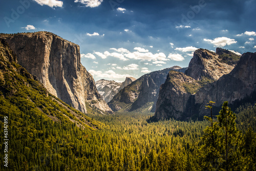 Fotobehang Natuur Park Yosemite National Park, Half Dome from Tunnel View