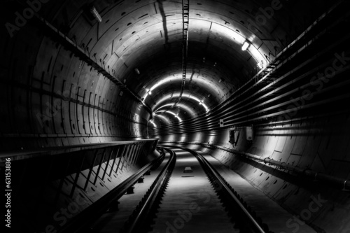 Papiers peints Tunnel Deep metro tunnel