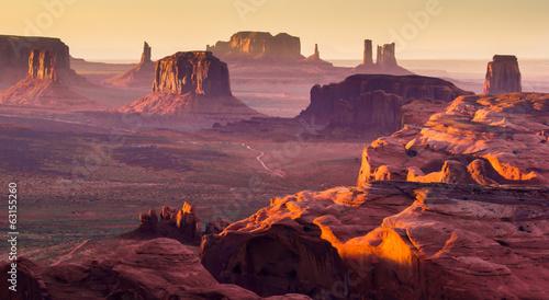 Foto auf Acrylglas Bestsellers The Hunt's Mesa, american wild west, Monument Valley