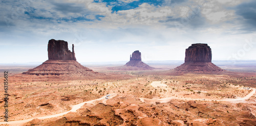Fotografie, Obraz  Monument Valley, Indian Reservation, USA