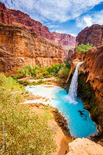 Poster de jardin Parc Naturel Havasu Falls, Havasupai, Grand Canyon