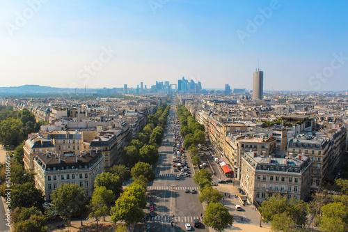 Papiers peints Paris skyline of Paris city towards La Defense district, France