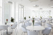 canvas print picture - summer restaurant