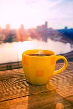 Morning Coffee In Sunrise