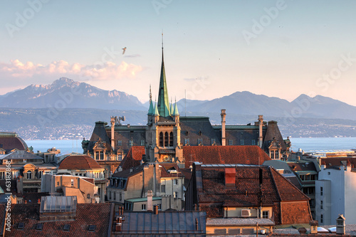 Fotografie, Obraz  Lausanne, Switzerland