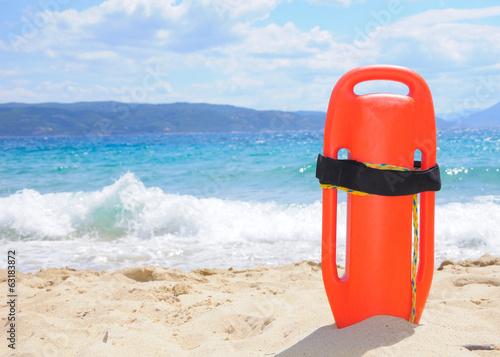 Lifeguard buoy on the beach Wallpaper Mural