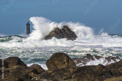 Tempête en mer d'Iroise
