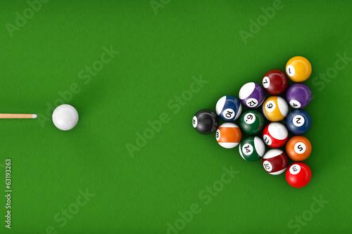 Glossy billiard balls set Canvas Print