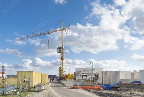 Foto op Plexiglas Historisch geb. construction site