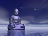 Night meditation - 3D render