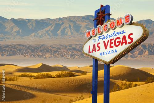 In de dag Las Vegas Welcome To Fabulous Las Vegas sign