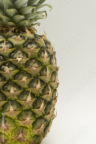 Fototapety, obrazy: Pineapple isolated on a white background