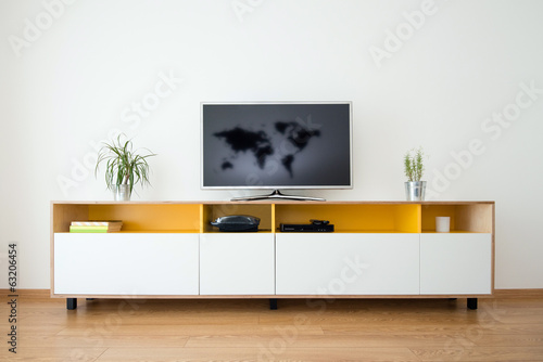 Fotografia, Obraz  detail of modern living-room - wall with TV