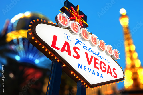Foto op Aluminium Las Vegas Welcome to Fabulous Las Vegas Sign Nevada