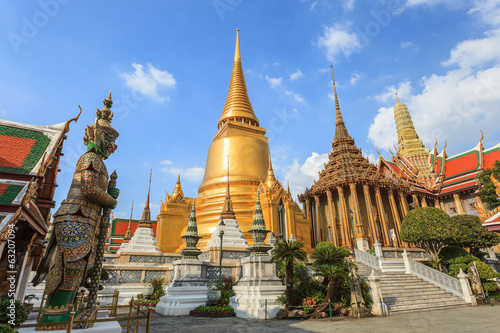 In de dag Bangkok Wat Phrakaew Temple, Bangkok, Thailand